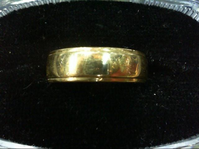 Lady's Gold Wedding Band 14K Yellow Gold 4.6g Size:7.5