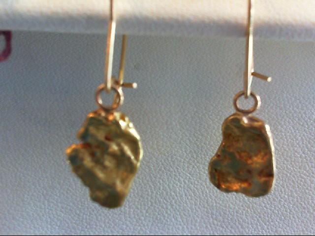 Gold Earrings 24K Yellow Gold 5.8g
