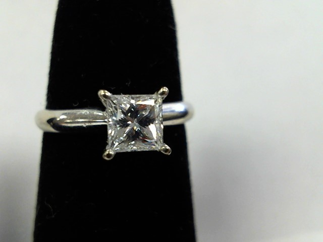 Lady's Diamond Engagement Ring .58 CT. 14K White Gold 2.1g