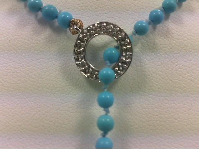 Diamond Necklace 12 Diamonds 0.12 Carat T.W. 14K White Gold 1.3g
