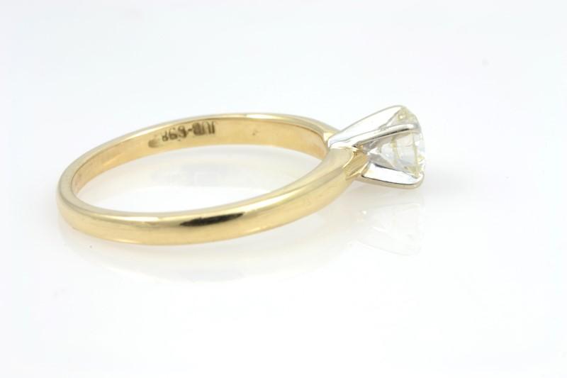 ESTATE DIAMOND RING SOLID 14K GOLD ENGAGEMENT WEDDING FINE SIZE 5.5