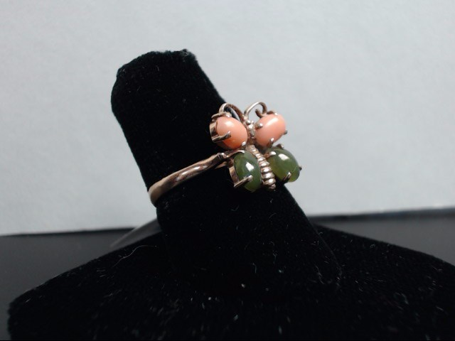 Synthetic Pink Stone Lady's Stone Ring 14K Rose Gold 3.1g