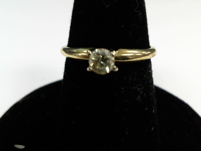 Lady's Diamond Engagement Ring .13 CT. 14K Yellow Gold 1.7g