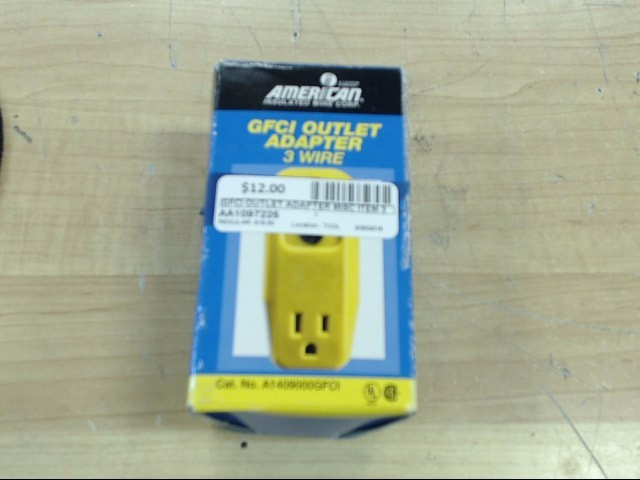 GFCI OUTLET ADAPTER 3 WIRE