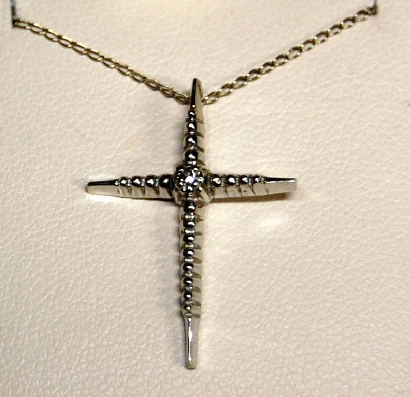 Diamond Necklace .01 CT. 14K White Gold 1.9g