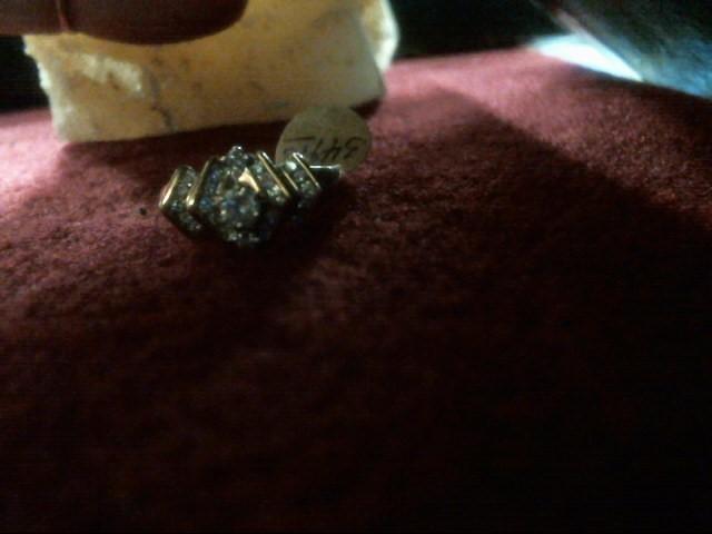 Lady's Diamond Cluster Ring 23 Diamonds .43 Carat T.W. 10K Yellow Gold 2.8dwt