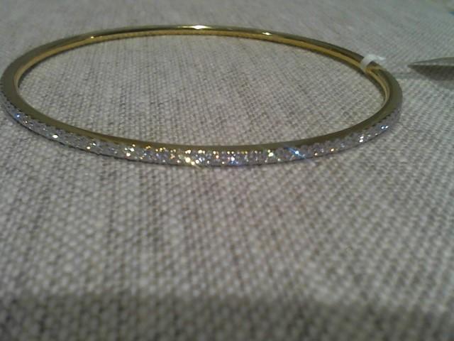 Gold-Diamond Bracelet .01 CT. 18K Yellow Gold 12.7g
