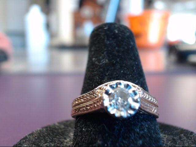 Lady's Diamond Wedding Set .20 CT. 14K Yellow Gold 5.35g