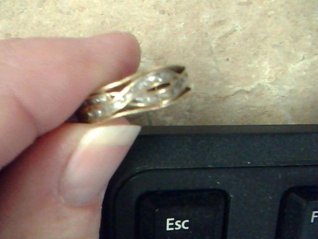 VINTAGE DIAMOND RING BAND SOLID 10K GOLD INFINITY WAVE PROMISE SZ 7