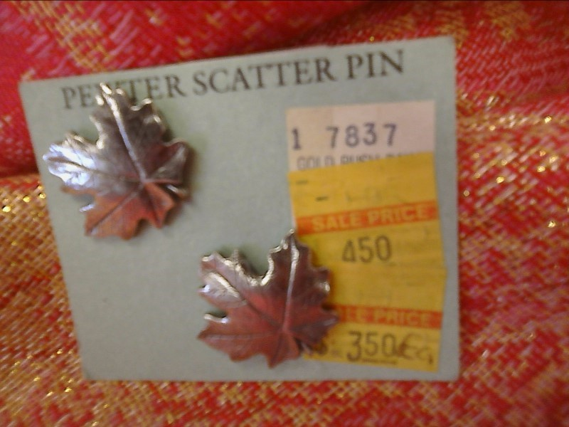 MISC NEW MISC NEW MISC DANFORTH 01-0308; (X-1)01-0308 MAPLE LEAF SCATTER PIN