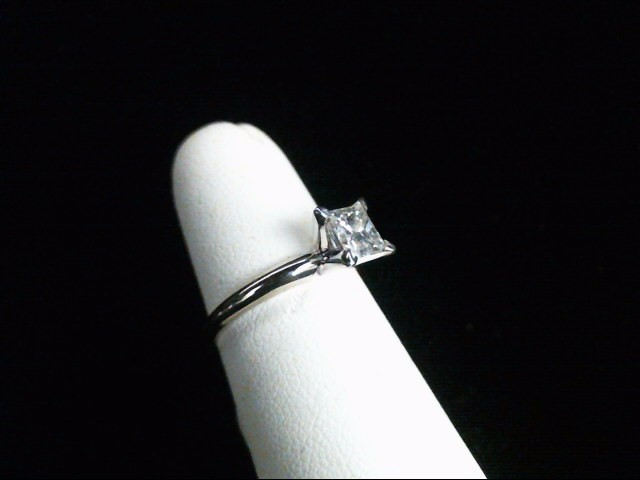 Lady's Diamond Solitaire Ring .71 CT. 14K White Gold 2.1g
