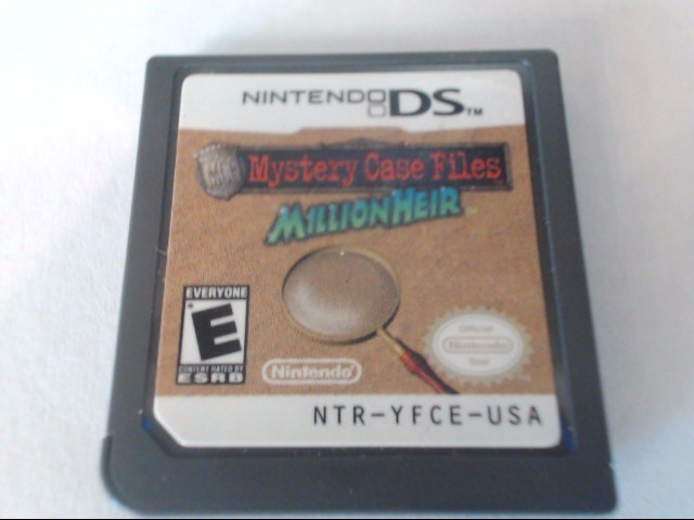 NINTENDO Nintendo DS Game MYSTERY CASE FILES MILLION HEIR