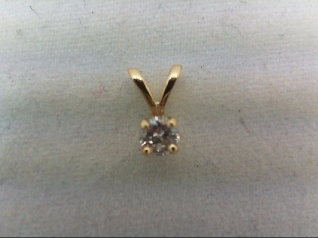 Gold-Diamond Solitaire Pendant .10 CT. 14K Yellow Gold 0.2g