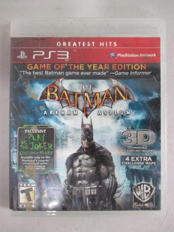 SONY PlayStation 3 PS3 BATMAN ARKHAM ASYLUM
