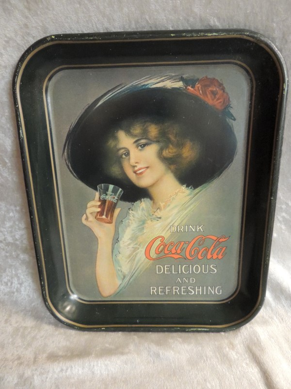 COCA-COLA COKE METAL TRAY RECTANGLE
