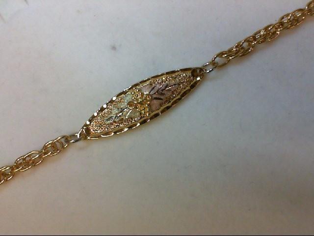 Gold Bracelet 10K Tri-color Gold 2g