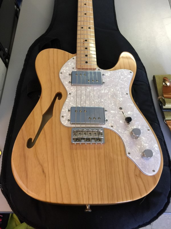fender telecaster thinline 39 72 reissue mexico mim w case look like new buya. Black Bedroom Furniture Sets. Home Design Ideas