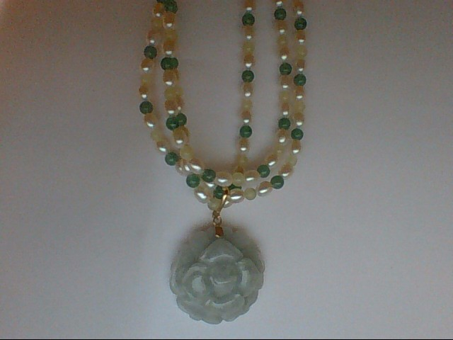 "16"" Synthetic Pearl Strand Stone Necklace 0.02g"