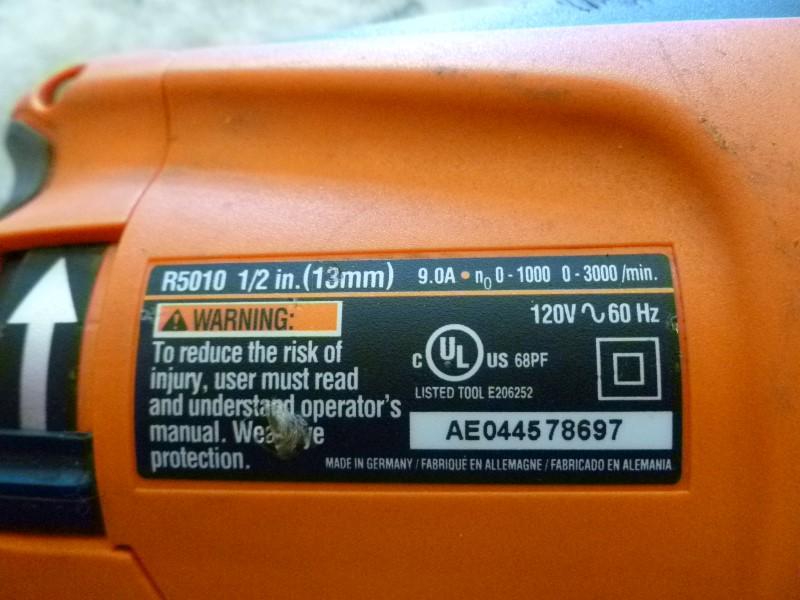 RIDGID R5010 DRILL (PARTS ONLY)