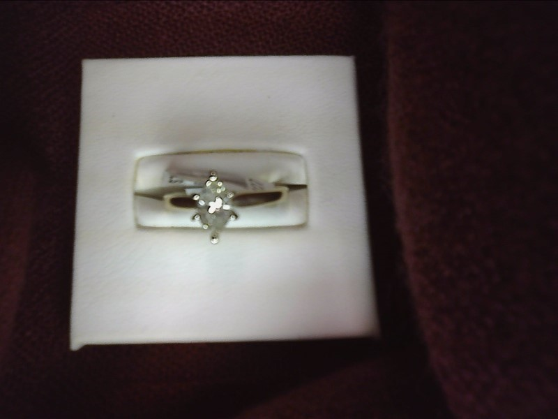 Lady's Diamond Solitaire Ring .47 CT. 14K Yellow Gold 1.24dwt Size:6