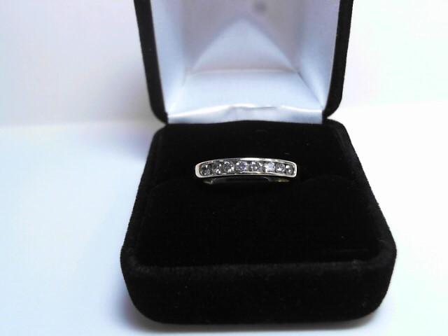 Lady's Diamond Wedding Band 8 Diamonds .40 Carat T.W. 14K Yellow Gold 4.5dwt