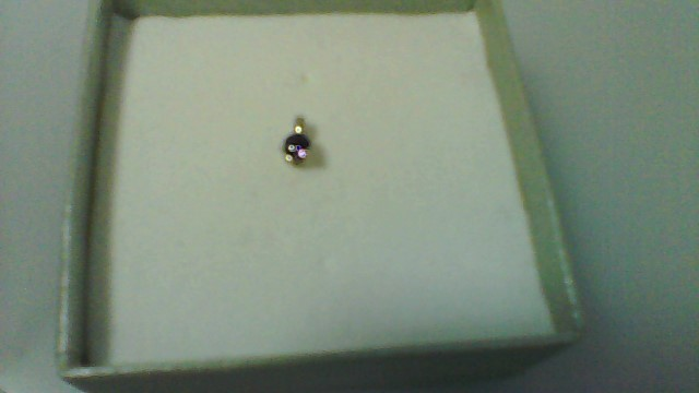 Synthetic Amethyst Gold-Stone Pendant 10K White Gold 0.15g