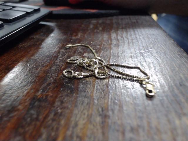 "20"" Gold Box Chain 14K Yellow Gold 2.4g"