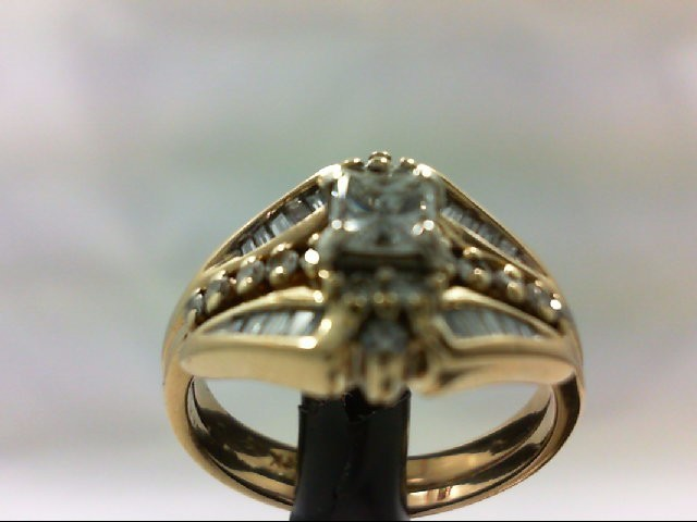 Lady's Diamond Wedding Set 37 Diamonds 1.09 Carat T.W. 14K Yellow Gold 5.95g