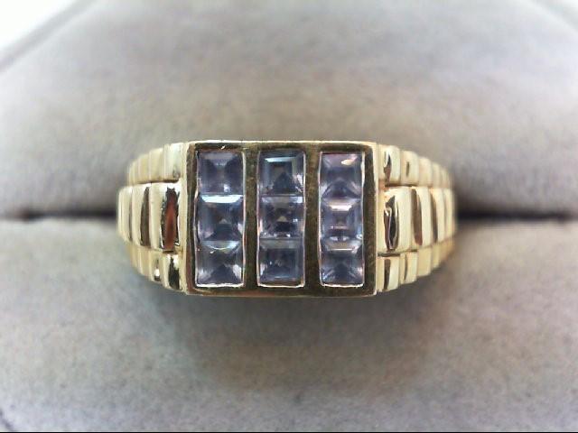 Tanzanite Gent's Stone Ring 14K Yellow Gold 4.8g