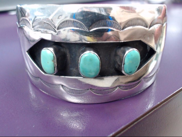 Turquoise Silver-Stone Bracelet 925 Silver 48.6g