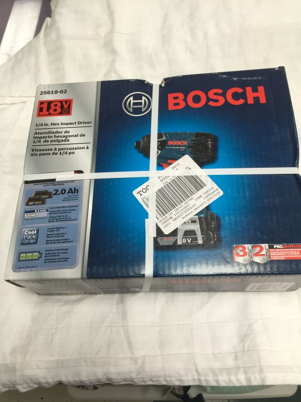 "BOSCH 18V 1/4"" HEX IMPACT DRIVER 25618-02"