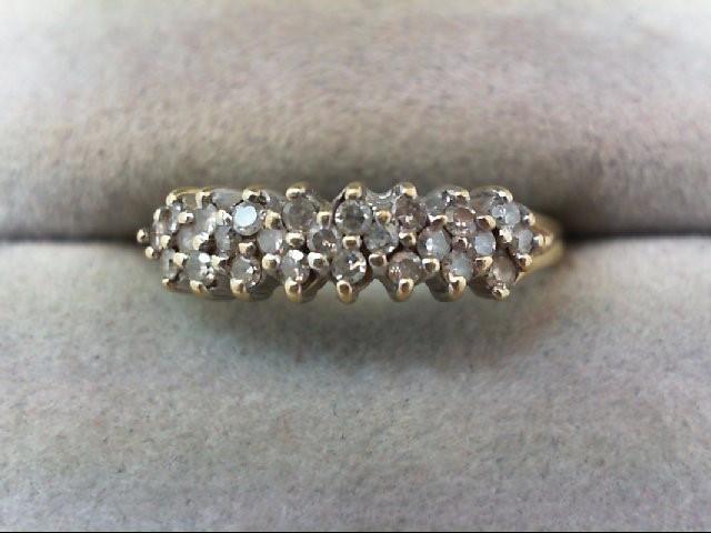 Lady's Diamond Wedding Band 25 Diamonds 0.38 Carat T.W. 14K Yellow Gold 2g