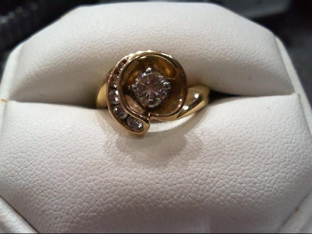 Lady's Diamond Fashion Ring 6 Diamonds .71 Carat T.W. 14K Yellow Gold 6.1g