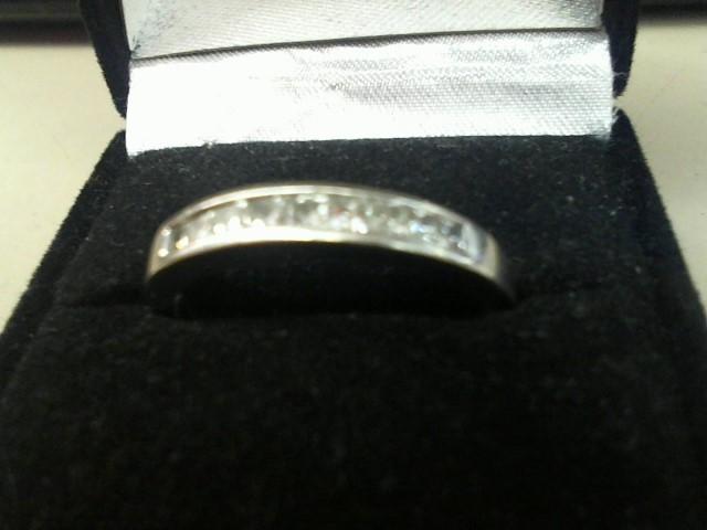 Gent's Gold-Diamond Wedding Band 9 Diamonds .54 Carat T.W. 14K White Gold 3.2g