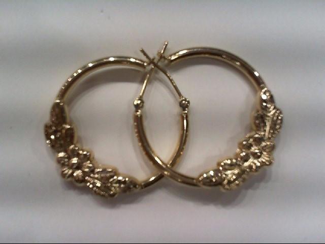 BEAUTIFUL LARGE QUARTER SIZE YELLOW GOLD HOOP Gold Earrings 14K Yellow Gold 1.6g