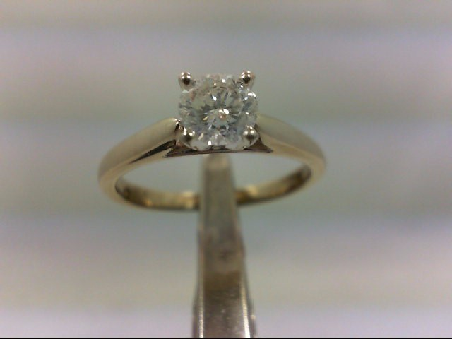 Lady's Diamond Solitaire Ring .56 CT. 14K White Gold 3.04g