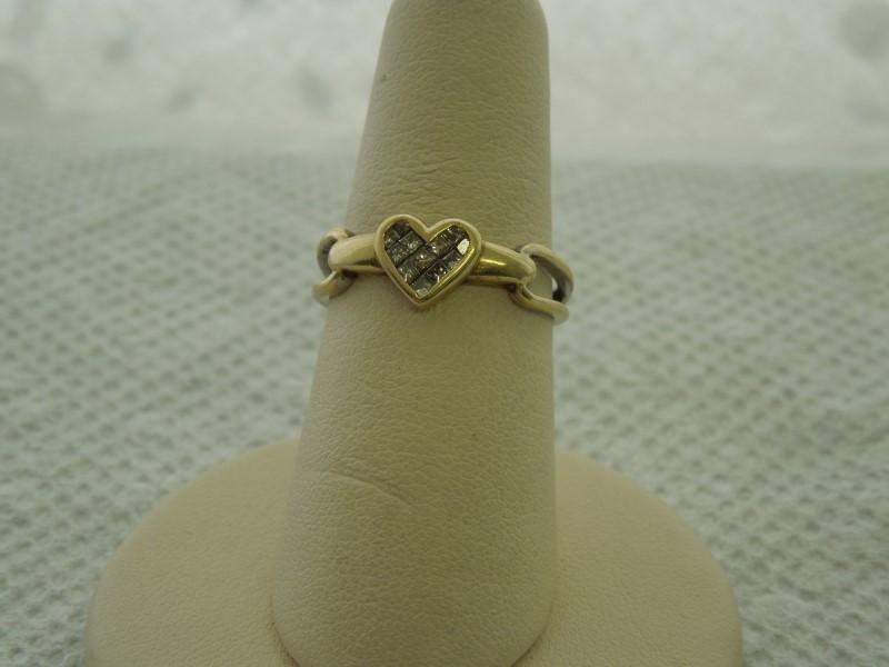 Lady's Diamond Fashion Ring 12 Diamonds .24 Carat T.W. 10K 2 Tone Gold 2.3g