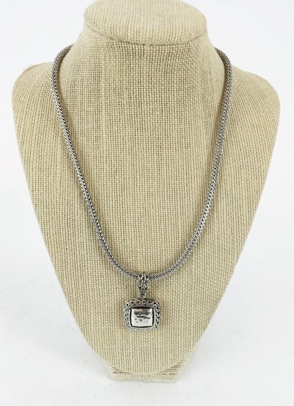 "John Hardy Sterling Silver Pendant w 16"" Chain 50g"