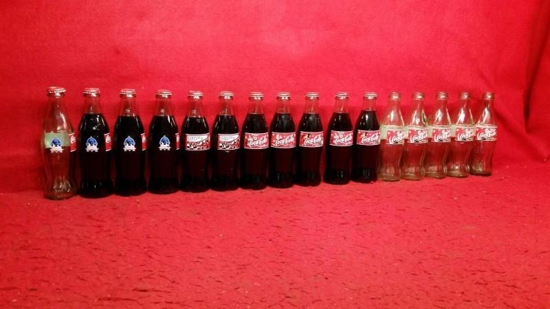 COCA COLA Collectible 16 GLASS BOTTLES