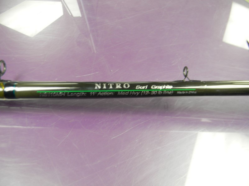 nitro fishing pole ns110mh surf rod brand new buya