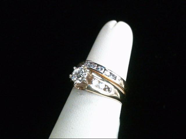 Lady's Diamond Wedding Set 16 Diamonds 1.00 Carat T.W. 14K Yellow Gold 6.5g