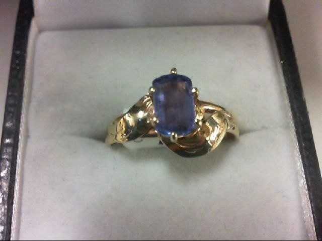 Tanzanite Lady's Stone Ring 14K Yellow Gold 2.7g