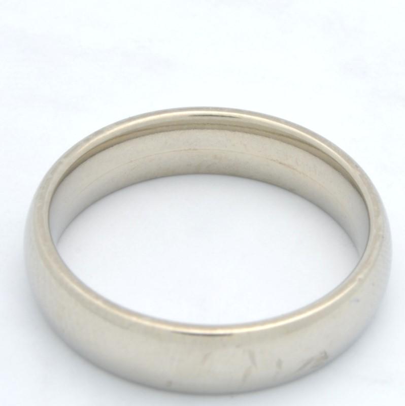 ESTATE WEDDING RING BAND SOLID 14K WHITE GOLD MEN PLAIN FINE SIZE 8