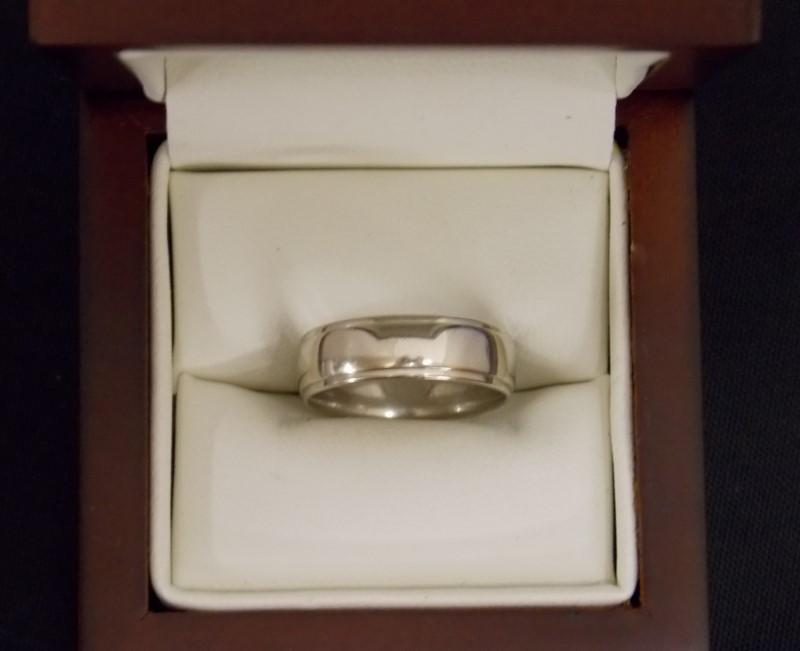 Gold Wedding Band 14K White Gold 3.01dwt Size:7
