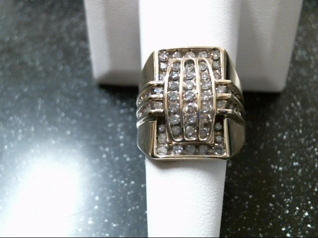 Gent's Diamond Fashion Ring 55 Diamonds 1.45 Carat T.W. 10K Yellow Gold 8.8g