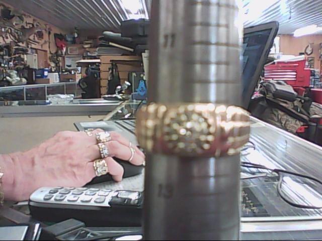 Gent's Diamond Fashion Ring 9 Diamonds .14 Carat T.W. 10K Yellow Gold 3.3dwt