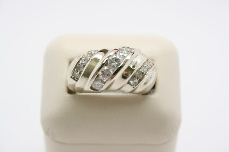 GENT'S FASHION DIAMOND RING 14K WHITE GOLD