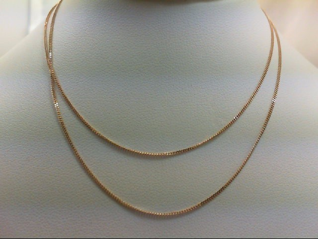 "20"" Gold Chain 10K Yellow Gold 1.2g"