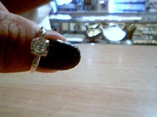Lady's Diamond Engagement Ring 5 Diamonds .38 Carat T.W. 14K 2 Tone Gold 1.9g