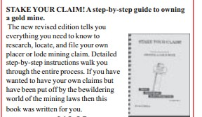 JOBE 6276; STAKE YOUR CLAIM BOOK